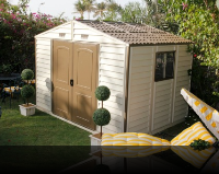 10.5 x 8 Woodside Vinyl Shed w/Foundation