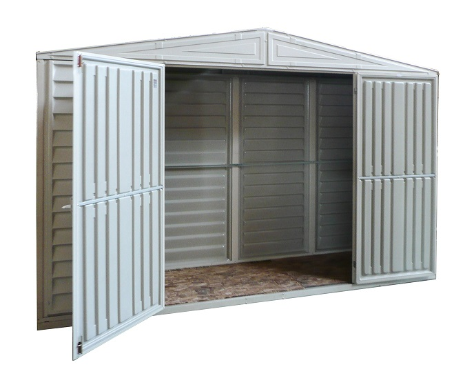 10 x 3 SidePro Vinyl Shed w/Skylight and Foundation Kit