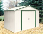 DuraMax 10' x 8' Del Mar Metal Shed — Green Trim
