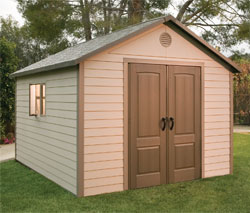 Lifetime 11' X 13 1/2'  Storage Shed & FREE Tool Corral