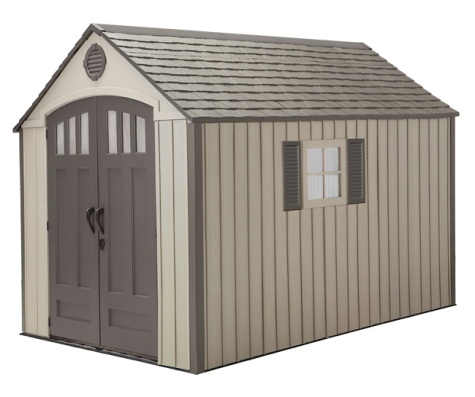 """NEW"" Lifetime 8x12.5 Storage Shed w/Floor & FREE Tool Corral"