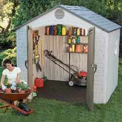Lifetime 8\' x 7 1/2\' Outdoor Storage Shed