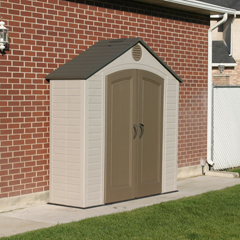 Lifetime 8' x 2.5' Outdoor Shed w/ FREE Skylight