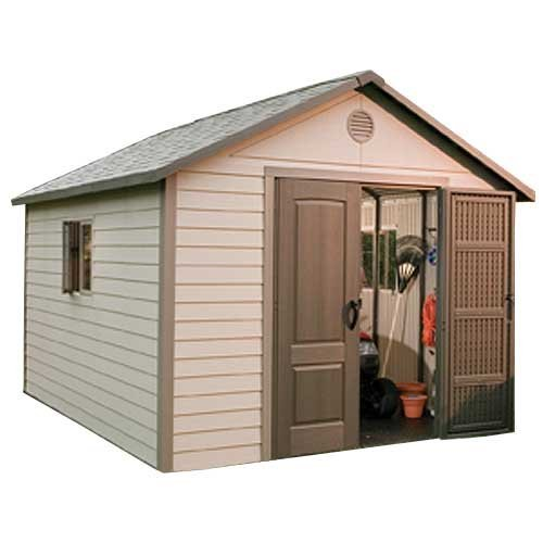 Lifetime vinyl outdoor storage sheds products shed town usa for Vinyl storage sheds