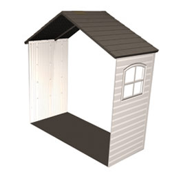 Lifetime 8\'x2.5\' Outdoor Storage Shed Extension Kit with One Win