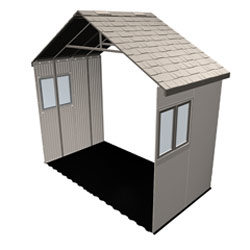 Lifetime 11'x2.5' Outdoor Storage Shed Extension Kit with 2 Wind