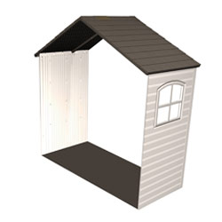 Lifetime 11'x5' Outdoor Storage Shed Extension Kit with 2 Window