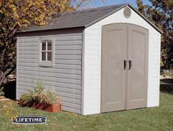 8ft x 10ft Lifetime Outdoor Storage Shed w/ FREE Skylights