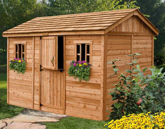 Outdoor Living Cedar Sheds Online Shed Town Usa