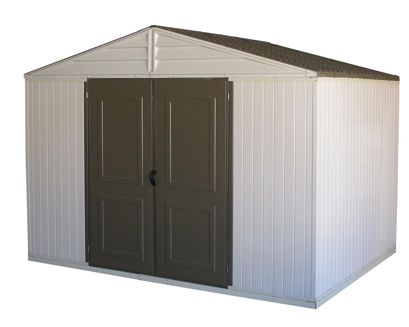 10.5 x 8' WestChester Double Wall Vinyl Shed w/Foundation