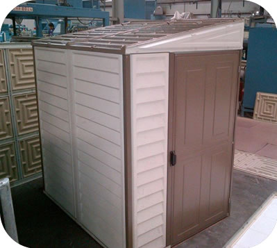 4 x 8 Woodside Sidemate Shed w/Foundation & Reversible Doors