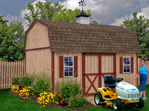 Best Barns Homestead 12 x 16 Wood Shed