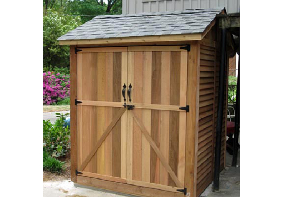 pitching a new cedar garden shed in virginia beach