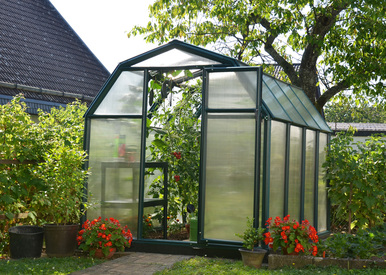 EcoGrow 2 Hobby Greenhouse - Twin Wall 6' Series by Poly-Tex