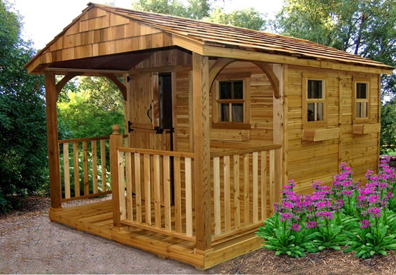 Shed Living : Outdoor Living Cedar Sheds Online- Shed Town USA
