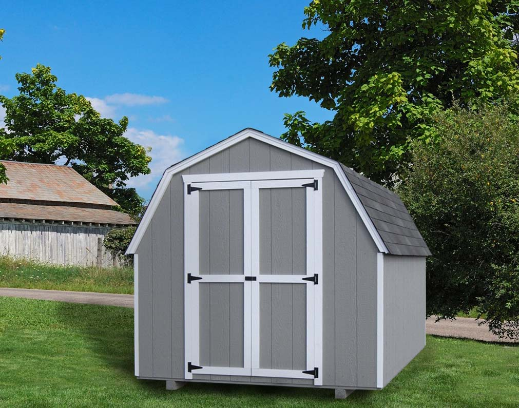 Value shed 4ft gambrel barn by little cottage co for Barn storage shed