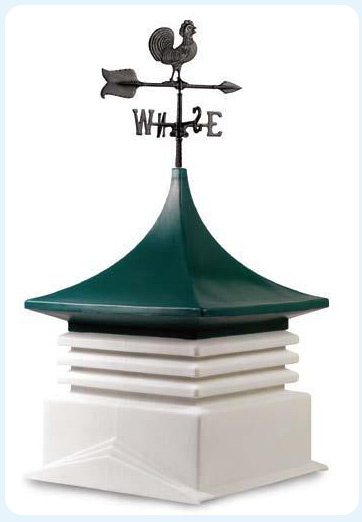 Cupola with rooster weather vane for Wood Sheds