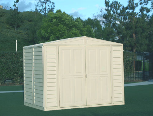 8 x 5.5 Duramate Vinyl Shed & FREE Skylight
