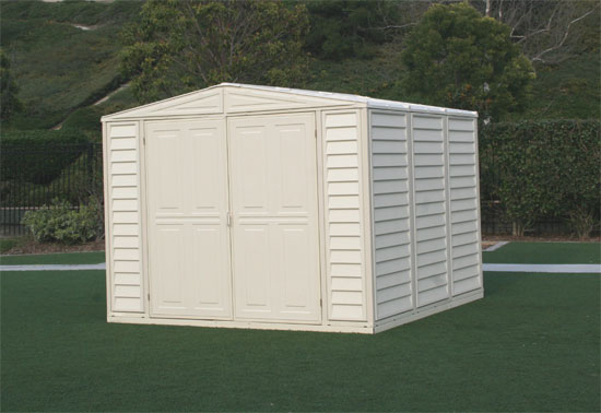 8 x 8 Duramate Vinyl Shed & FREE Skylight