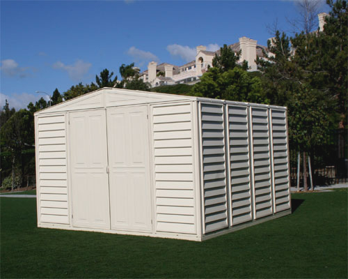 10.5 x 10.5 Woodbridge Vinyl Storage Shed & FREE Skylight