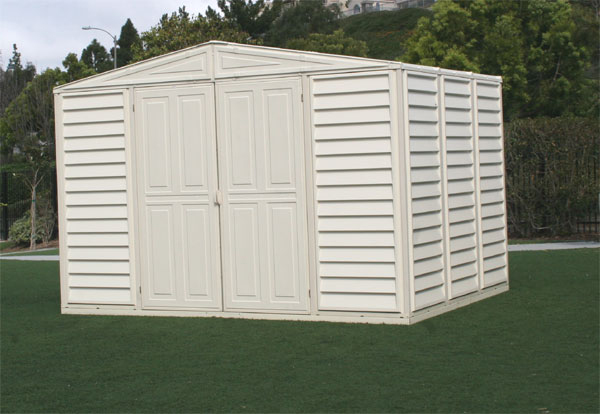 10.5 x 8 Duramax Woodbridge Vinyl Storage Shed, FREE Skylight