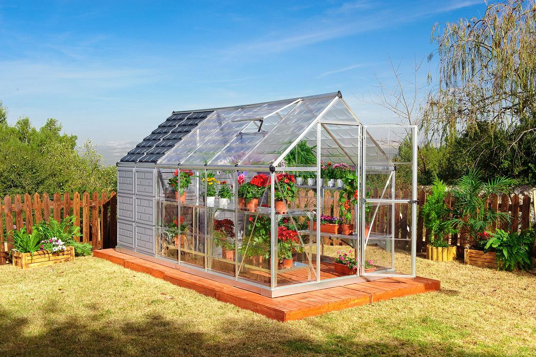 Grow and Store 6' x 12' Hobby Greenhouse by Poly-Tex