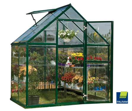 Harmony Green 6 X 4 Greenhouse by Polytex