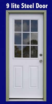 Shed Kit 9 Lite WalkIn Door