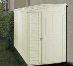 4 X 8 Sidemate Vinyl Shed With Foundation Kit