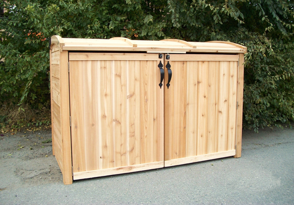 Outdoor Living Cedar Oscar Waste Management Shed 6 X3