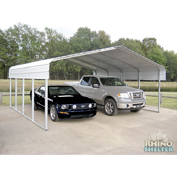 Rhino Shelter Steel Carport 22x24x12 - Portable Garages ...