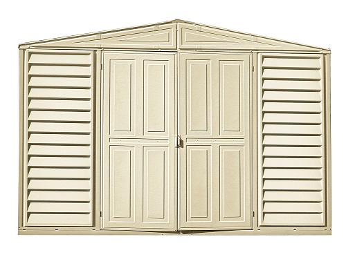 10.5 x 5 Woodbridge Vinyl Shed with Foundation
