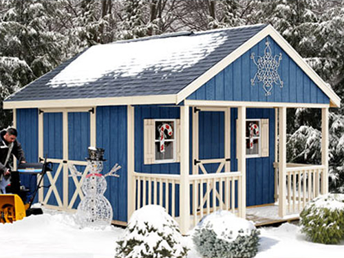 Fairview by Best Barns Shed Kit with Porch 12 x 16