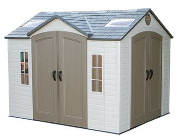 Lifetime 10ft X 8ft Dual Entry Shed With Double Doors Front/Side