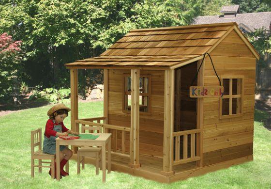 Little Cedar Playhouse 6x6 By Outdoor Living Wood Playhouses