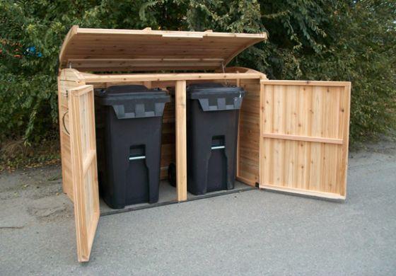 outdoor living cedar oscar waste management shed 6x3