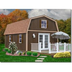 Best Barns Richmond 16 x 20 Wood Shed