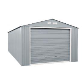12 x 26 Duramax Imperial Metal Utility Garage-Lt Grey