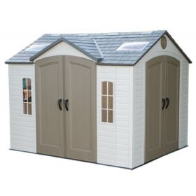 Lifetime 10ft x 8ft Dual-Entry Shed with Double Doors Front/Side