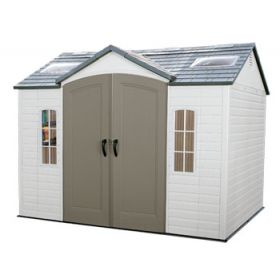 Lifetime 10ft x 8ft Outdoor Garden Storage Shed  & FREE Skylight