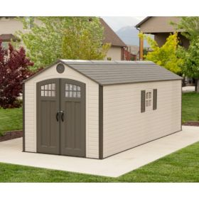 8ft x 20ft Lifetime Storage Shed w/ FREE Skylights