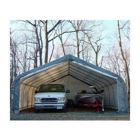 Rhino Shelter Two Car Garage 22x24x12 House Style