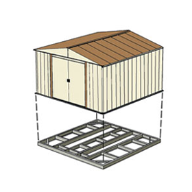 Shed Base Kits For 4'x10', 8'x6' or 10'x6' Sheds