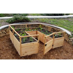 Outdoor Living Raised Cedar Garden Bed 8'x8'