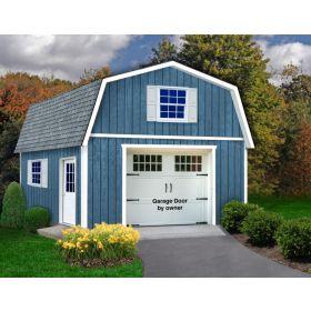 Best Barn Jefferson 16' Wide Garage Kit with 2nd Floor
