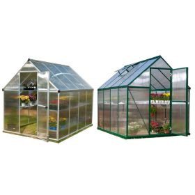 Mythos Greenhouse Silver 6'x8' by Poly-Tex
