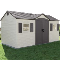 15ft x 8ft Lifetime Garden Storage Shed & FREE Tool Corral