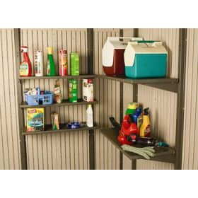 "5-Piece 10""x30"" Shelf Accessory Kit for 11' wide Sheds"