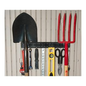 "Revolutionary 16"" Peg Strips & 10 Tool Hooks -- 2-Strip Pack"