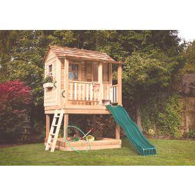 Little Cedar Playhouse- 6'x6' with Sandbox By Outdoor Living